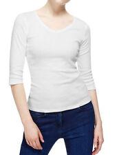 Marks and Spencer V Neck Plus Size Basic T-Shirts for Women