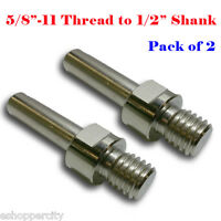 """Dry Core Bit Adapter:5//8""""-11 Arbor to 1//2"""" Shank Center Pilot Drill Hole UNC"""