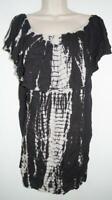 NWT Raviya Black Tie Dye Bikini Swimsuit Cover Up Size Large L MSRP $44 #6658