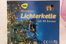 Minilichterkette 50 flg. Kabel transparent Lichterkette für innen Weihnachten