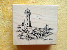 PEGGY'S COVE  LIGHTHOUSE by PSX K-2775  1999  NEW! Rubber Stamp