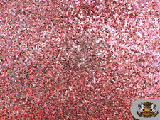 """Glitter Large Stargem PINK Crafting Vinyl Fabric / 54"""" Wide / Sold by the yard"""