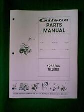 GILSON REAR TINE ROTO TILLER MODEL RT5S PARTS MANUAL