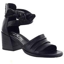 MJUS sandalo con tacco in pelle fondo in gomma nero fodera in pelle mod 7904