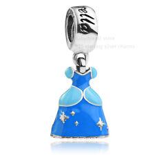 authentic 925 sterling silver Princess Cinderella dress dangle Charm f bracelet