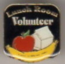 """""""Lunch Room Volunteer"""" Lapel Pins/Lot of 25/Nib"""