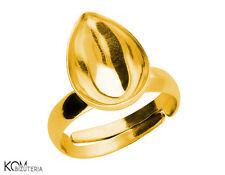 Ring base for Swarovski 4320 14 mm P10 adjustable - gold-plated silver