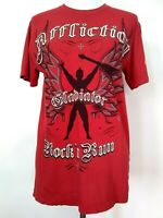 Affliction Unisex Red Gladiator Rock And Run Short Sleeve T-Shirt Top Size Small