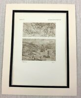 1927 Antico Stampa Grotesque Figure Schizzi Apostles Hieronymus Bosch