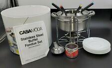 CasaModa Stainless Steel  Chocolate & Cheese Fondue Set