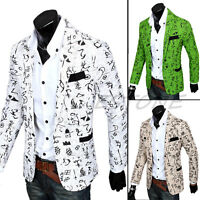 Stylish Mens One Button Casual Suit Slim Fit Blazer Coat Jacket Outwear Tops