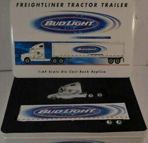 NEW Crown Premium Freightliner Tractor Trailer Bud Light Beer Budweiser 1:64 COA