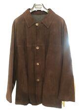 SALVATORE FERRAGAMO 54 Brown Suede Jacket