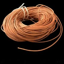 50 FEET VEGETABLE TANNED- ROUND LEATHER CORD-3mm- BIRD TOY PARTS- JEWELRY