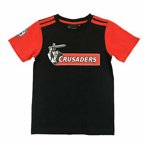 NZ Super Rugby Canterbury Crusaders Supporter T-Shirt - KIDS - Sizes 4 - 10 yrs