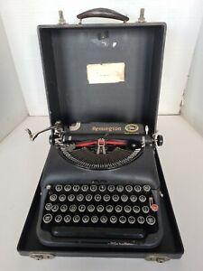 Remington Model 5 Portable Typewriter 1939 in Case