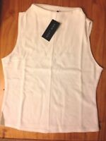 New Look Size 14 Smart Top Vest Cream White BNWT With Tags Ribbed