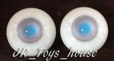 Glass Eye 8mm MD L Grey Blue MSD DOT Lati White Brownies 1/6 Fashion Doll