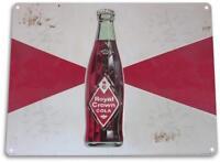 """RC Royal Crown Bottle"" Metal Decor Wall Art Soda Store Sign"