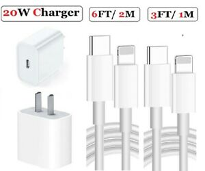 20W USB-C Power Adapter PD Fast Charge Cable For iPhone 13/12/11 Pro Max/XR/iPad