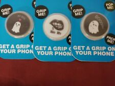 LOT OF 3 MOBILE DEVICE ADHESIVE GRIP MEDIA STANDS ASSORTED DESIGNS VAMPIRE GHOST