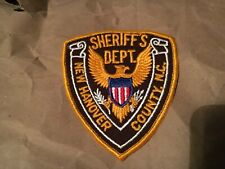NEW HANOVER COUNTY SHERIFF NORTH CAROLINA POLICE patch NB