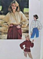 1978 Simplicity Sewing Pattern 8704 Womens Shirt Size 14 36 Bust Wardrobe 5852F