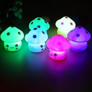 Bedside Lamp Mini LED Night Light PlasticMushroom Shape Multicolour Kids Bedroom