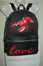 TOPSHOP Lobster Beaded LOVE Nylon Backpack PURSE 2018 / 24P11NBLACK NWT