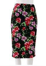 Slinky® Brand Stretch Knit Textured Pencil Skirt Flower Design size 1X