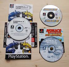 Lot jeux F1 99 2000 & Monaco GP2 Sony PS1