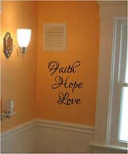 FAITH HOPE LOVE Wall Sticker Wall Art Decor Vinyl Decal Lettering