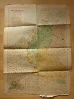 alte Landkarte Westdeutschland und angrenzende Staaten Besatzungszonen 1946