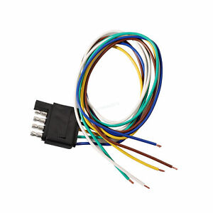 Trailer 5 Way Flat End Connector Extension Harness fits Chevrolet Colorado 3'