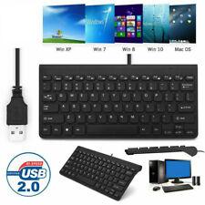 78 Key,Black Mini Slim USB Wired Compact Thin Keyboard for Desktop Mac PC Laptop