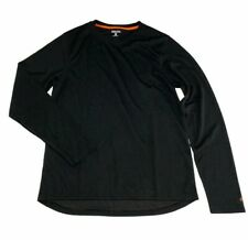 Mens Omni Wool Crew Top Size L Small Long Sleeve Black Thermal Base Layer Shirt