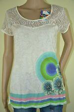 Desigual camisa * ts _ egson rep * blanco talla L primavera/verano