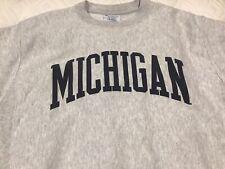 Champion Reverse Weave Grey University Of Michigan Sweatshirt Size Medium