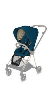 Cybex MIOS Mountain Blue Seat Pack -Sun Canopy Hood Seat Fabric Harness Support