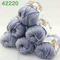Sale New 6Skeinsx50g Soft Worsted Cotton Chunky Hand Knitting Baby Quick Yarn 20