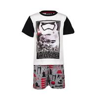 DISNEY pyjama pyjashort pyjacourt STAR WARS 4 6 8 ou 10 ans gris rouge noir NEUF