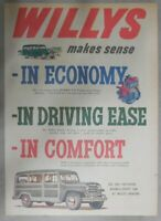 Willys Car Ad: Willys Makes Sense In Economy ! from 1951 Size: 11 x 15 inches