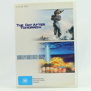The Day After Tomorrow + Independence Day (DVD, 2007, 2-Disc Set) Will Smith GC