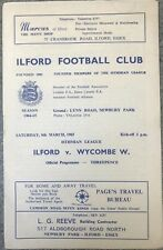 More details for ilford v wycombe wanderers 1964/65 postponed & supplement sheet for re-arranged