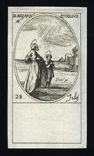 santino incisione 1600 SS.NAZARIO E CELSO  MM.  j. callot