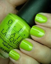 NEW! OPI NAIL POLISH Nail Lacquer in WHO THE SHREK ARE YOU? ~ Yellow/Green
