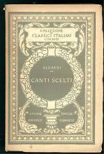 ALEARDI A. CANTI SCELTI  UTET 1924 CLASSICI ITALIANI 1 POESIA