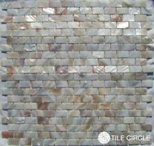 """Mother of Pearl Natural Varied 5/8"""" x 1"""" Minibrick Subway Tile"""
