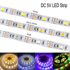 DC5V Interface LED Adhesive Tape SMD 5050 Strip Light Lamp 50CM 1M 2M 3M 4M 5M