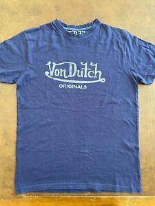 VON DUTCH+++T SHIRT+++BLU+++TG.S+++STREET WEAR+++ORIGINALE100%+++